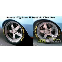 STREET FIGHTER WHEEL AND TIRE 1:18