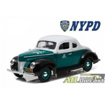 FORD DELUXE COUPE 1940 POLICE NYPD 1:18