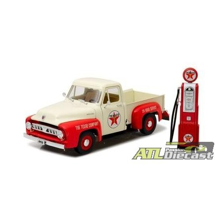 FORD F 100 1953 TEXACO WITH VINTAGE GAS PUMP 1:18