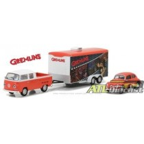 1972 VOLKS T2 DOUBLE CAB PICK UP & 1967 VOLKS BEETLE & ENCLOSED CAR HAULER 1:64