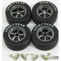 TRANS AM WHEEL AND TIRE SET 1:18