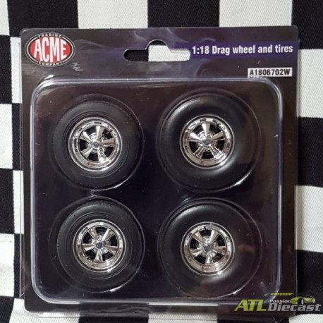 CRAGAR WHEEL AND TIRE SET 1:18