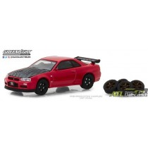 97040-E - 1-64 The Hobby Shop 4 - 2002 Nissan Skyline GT-R R34 w Spare Tires - Pkg (Front,High Res.jpg (112.42 KB)