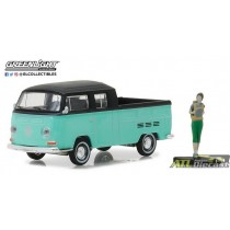 97020-F - 1-64 The Hobby Shop 2 - VW Type 2 Crew Cab Pickup w Female Backpacker - Pkg (Front,High Res).jpg (100.74 KB)  97020-F
