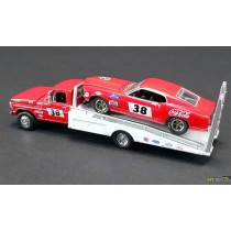 1969 TRANS AM MUSTANG WITH FORD F-350 RAMP TRUCK ALLAN MOFFAT  1:64