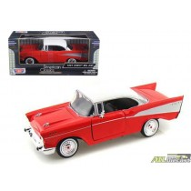 1957 Chevrolet Bel Air Red  1:24 ATLPASSIONDIECAST.COM