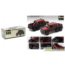 MERCEDES BENZ G63 AMG 6X6 1ST SPECIAL EDITION RED / BLACK 1:64