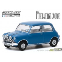 1967 Austin Mini Cooper S 1275 MkI in Blue - The Italian Job (1969) - Hollywood Série 28 - 1:64 greenlight 44880 A