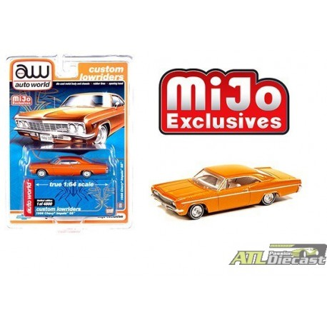 1966 CHEVY IMPALA SS MIJO EXCLUSIVE LIMITED EDITION 4800 PIECES 1:64 ORANGE