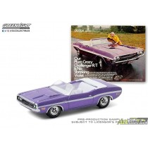 1971 Dodge Challenger R/T Convertible -Vintage Ad Cars Series 3 - 1:64 Greenlight 39050 B