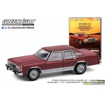 1979 Ford LTD Sedan Introducing A New American Road Car -Vintage Ad Cars Series 4 - 1:64 Greenlight - 39060 C atlpassiondiecast