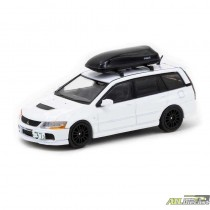 Mitsubishi Lancer Evolution Wagon With Roof Top Sky Box - White - Tarmac Works 1:64 - T64R-042-WH ATLPASSIONDIECAST