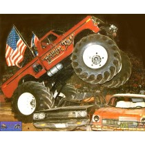 1979 Ford F-250 Monster Truck with 66-Inch Tires Kings of Crunch - Walking Tall - Greenlight - 1/18 - 13606 ATLPASSIONDIECAST.CO