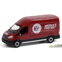 2015 Ford Transit LWB High Roof - Indian Motorcycle Sales & Service - Route Runners Series 3 Greenlight 1:64 - 53030 B ATLPASSIO