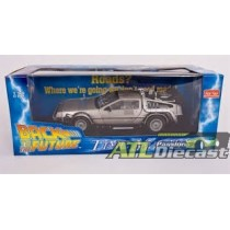 DELOREAN BACK TO THE FUTURE TIME MACHINE 1:18